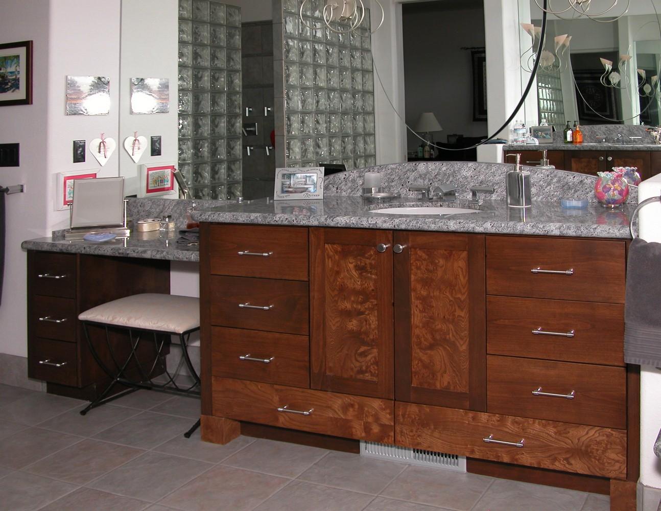Bathrooms unique design cabinet co for Master vanity
