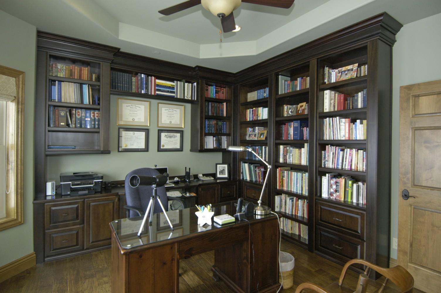 Black Walnut Bookshelves Desk