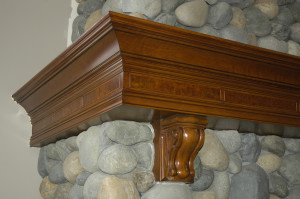 Burl Inlayed Mantel