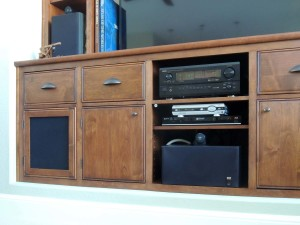 Cherry niche cabinet with inset doors