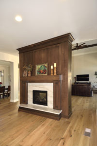 Two-Sided Fireplace-Room Divider